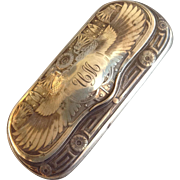 Silver  Spectacle or Eyeglass Case Egyptian Revival c. 1909