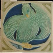 Rookwood Matte Parrot Trivet Circa 1929