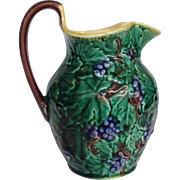Wedgwood Majolica Grapes Pitcher