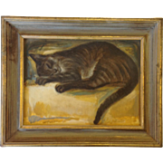 'Sleeping Cat' Painting by K Francis Artist Board