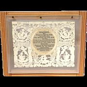 Victorian Valentine Card Poem in Shadow Box
