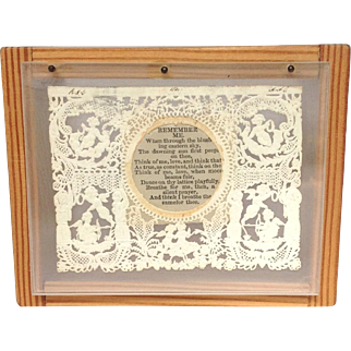 Victorian Valentine Card Poem in Shadow Box