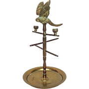 Vintage Brass Parrot Stand