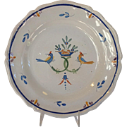 "French Faience Charger 12"" Antique"