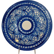 Spanish Faience Charger 19th c 12""