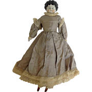 German China Head Doll with Clothing Circa 1900