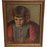 Oil Painting of a Young Girl on Board