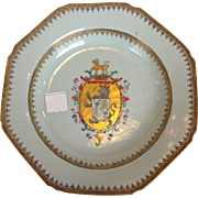 Chinese Export Armorial Plate Circa 1775