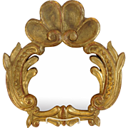 Gilt Wood Mirror Italian Carved