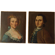 Pair of Continental Portraits 18th c.
