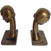 Pair of Lady Art Deco Style Bookends