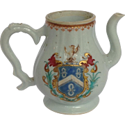 Pitcher Armorial Chinese Export Circa 1810