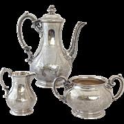 Sterling Tea Set English Three Piece 19th c.