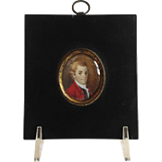 Antique Miniature Portrait of Gentleman