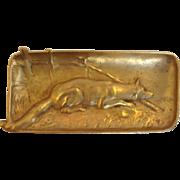 Dog Tray Berndorf Austrian Gilt Bronze Circa 1900
