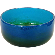 Ekenas Glasbruk Bowl Blue to Green Sweden by John Orwar