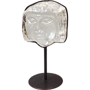 Erik Hoglund for Kosta Boda Face Sculpture