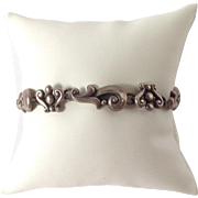 Mexican Sterling Bracelet By Lopez Taxco