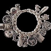 Sterling Charm Bracelet 16 Charms
