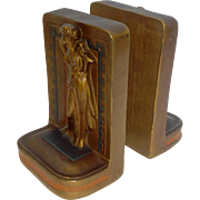 Art Deco Lady Book Ends