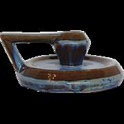Fulper Chamberstick Blue Pottery