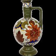 """Gouda Art Pottery Ewer 8"""""""