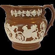 English Jasperware Pitcher  1850's