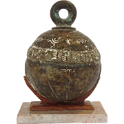Early Bronze Bell on Stand