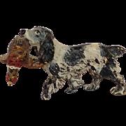 Vienna Bronze Hunting Dog With Bird