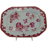 Chinese Export Platter Famille Rose 11.5""