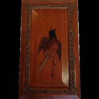 Bird Painting on Panel Antique