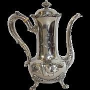 Art Nouveau Demitasse Pot Frank Smith Sterling Floral