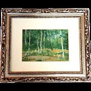 Aspen Grove Painting by Henri Gadbois Houston Texas