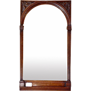 Mirror Arched Mahogany Beveled Architectural