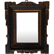 Carved Wood Frame Mirror 18th c