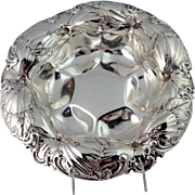 """Hibiscus Center Bowl Large Sterling 12"""""""
