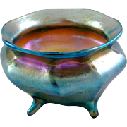 Tiffany Favrile Glass Footed Salt Cellar