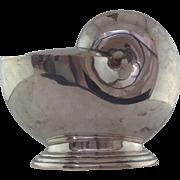 Victorian Nautilus Shell Spoon Warmer Silverplate