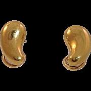 Tiffany Peretti Bean Earrings 18k