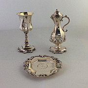 English Sterling Traveling Communion Set (3 pieces)