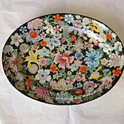 Antique Chinese Export Famille Noire Platter 18th Century