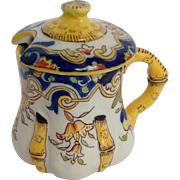 Mustard Pot Rouen French Faience