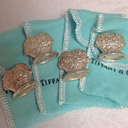 TIFFANY & CO. 4 Sterling Basket Place Card Holders