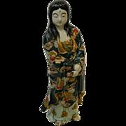 Japanese Kutani Porcelain Female Buddha Statue