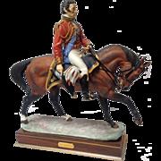 Royal Worcester Limited Edition Porcelain Soldier Figure of Duke Wellington