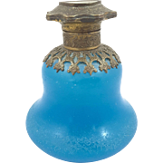Blue Opaline Glass Perfume Bottle