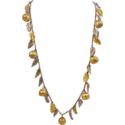 "Tané Apples And Leaves 31"" Sterling Necklace"