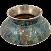 Los Castillo Aztec Figure Turquoise Vase