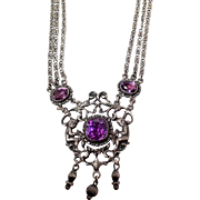 "Parenti Amethyst and Sterling 14"" Necklace"