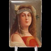Wagner Porcelain Plaque Cleopatra Portrait